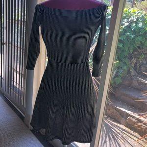 Off the shoulder striped dress